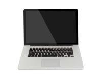 Computador no fundo branco imagem de stock royalty free