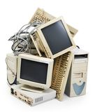 Computador obsoleto Imagem de Stock Royalty Free