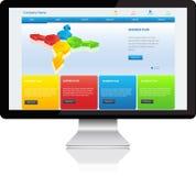 Computador onmodern do molde responsivo do Web site Imagens de Stock Royalty Free