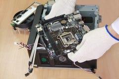 Computador pessoal do conjunto do engenheiro eletrónico Foto de Stock