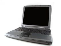 Computador portátil cinzento fotografia de stock royalty free