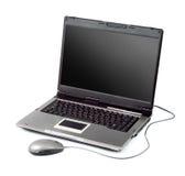 Computador portátil gama alta com rato Fotografia de Stock