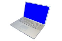 Computador portátil isolado Fotografia de Stock Royalty Free