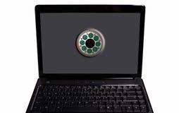 Computador portátil pessoal imagens de stock royalty free
