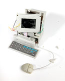Computador quebrado Fotografia de Stock Royalty Free