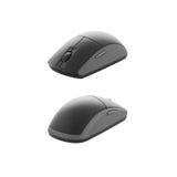 Computador-rato cinzento Imagem de Stock Royalty Free