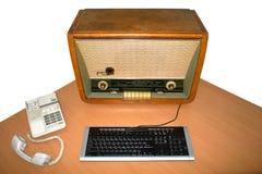 Computador retro Imagens de Stock
