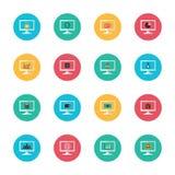 Computador um icon6 Imagem de Stock