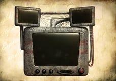 Computador velho do grunge Foto de Stock Royalty Free