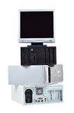Computador velho e desperdício eletrônico Imagem de Stock