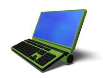 Computador verde Foto de Stock Royalty Free