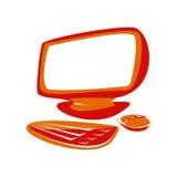 Computador vermelho Fotografia de Stock
