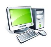 Computadora de escritorio Imágenes de archivo libres de regalías
