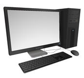 Computadora de escritorio Ilustración del Vector