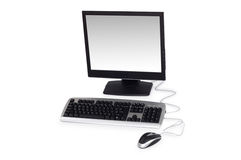 Computadora de escritorio aislada en el fondo blanco Foto de archivo