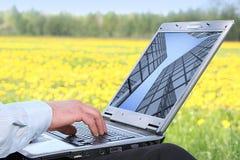 computadora portátil 3d Fotografía de archivo