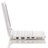 Computadora portátil abierta del blanco Fotos de archivo libres de regalías