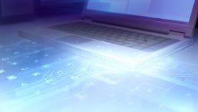 Computadora portátil abstracta Imágenes de archivo libres de regalías