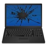 Computadora portátil agrietada Foto de archivo