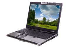 Computadora portátil aislada Fotografía de archivo