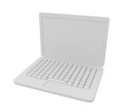 Computadora portátil aislada en blanco Foto de archivo libre de regalías