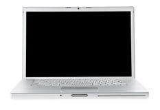 Computadora portátil aislada en blanco. imagen de archivo