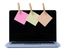 Computadora portátil aislada en blanco Fotos de archivo libres de regalías