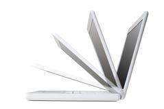 Computadora portátil blanca Imágenes de archivo libres de regalías
