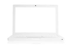 Computadora portátil blanca Fotos de archivo