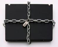 Computadora portátil bloqueada Fotografía de archivo libre de regalías