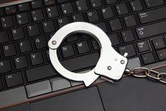 Computadora portátil con los pun¢os Imágenes de archivo libres de regalías