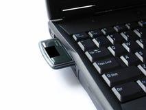 Computadora portátil con wlan fotos de archivo