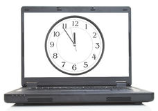 Computadora portátil de alta tecnología imagen de archivo libre de regalías