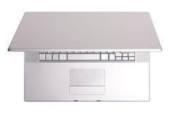 Computadora portátil de aluminio, visión superior. fotografía de archivo
