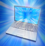 Computadora portátil de gran alcance Imagenes de archivo