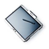 Computadora portátil de la PC de la tablilla en el fondo blanco Imagenes de archivo