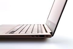 Computadora portátil de plata fotos de archivo