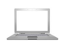 Computadora portátil de plata Stock de ilustración