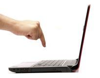 Computadora portátil del asunto Imagen de archivo libre de regalías