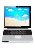 Computadora portátil del día de fiesta Foto de archivo libre de regalías