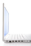 computadora portátil del Hola-clave. Composición vertical. Foto de archivo libre de regalías