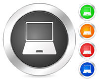 Computadora portátil del icono del ordenador Foto de archivo libre de regalías