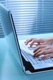 Computadora portátil del ordenador Fotografía de archivo libre de regalías