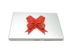 Computadora portátil del regalo Fotografía de archivo
