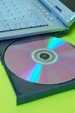 Computadora portátil: DVD Fotos de archivo