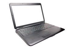 Computadora portátil en el blanco Fotografía de archivo libre de regalías