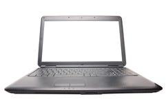 Computadora portátil en el blanco Fotos de archivo