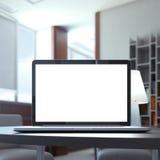 Computadora portátil en el vector Imagenes de archivo