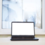Computadora portátil en el vector Fotografía de archivo libre de regalías