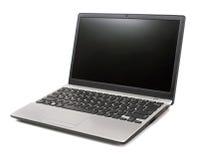 Computadora portátil en un fondo blanco Imagen de archivo libre de regalías